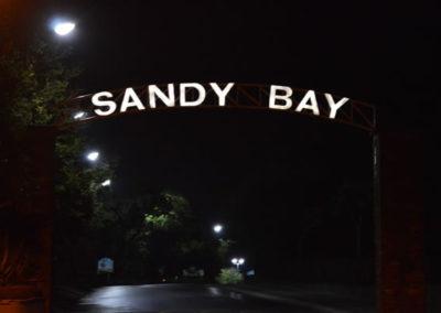 Sandy Bay Entrance Sign